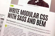 While there are already many front-end frameworks available for free, it's often preferable to write code ourselves. We can build a Sass and BEM based living framework to use as a basis for any project. Html Css, Web Development, Web Design, Coding, Writing, Free, Magazine, Design Web, Magazines