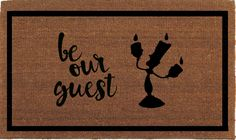 "Be Our Guest Beauty and the Beast Lumiere Disney Door Mat, Coir Doormat Rug, 24"" x 35"", Welcome Mat, Housewarming Gift, Hand Painted By Me by FranklinandFigg on Etsy https://www.etsy.com/au/listing/466610849/be-our-guest-beauty-and-the-beast"