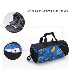 Travel Sport Shoulder Bags For Men Women Waterproof Luggage Duffel Training  Crossbody Handbag Shoe Storage. Mens Gym ... 44d64a6bd6e4a