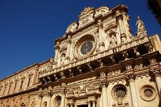 Baroque Lecce (Italy). 'The extravagant architectural character of many Puglian towns is down to the local style of barocco leccese (Lecce baroque). The local stone was so soft, art historian Cesare Brandi boasted it could be carved with a penknife. Craftsmen vied for ever greater heights of creativity, crowding facades with swirling vegetal designs, gargoyles and strange zoomorphic figures.