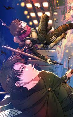 Levi and Mikasa Levi Mikasa, Levi And Erwin, Attack On Titan Fanart, Attack On Titan Levi, Levi Squad, New Image Wallpaper, Manga Anime, Anime Art, Rivamika