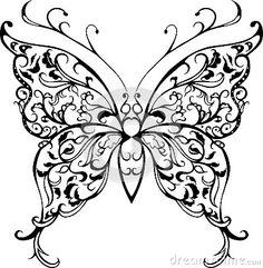 pattern-lace-butterfly-decorative-black-white-40232733.jpg 400×410 pixels