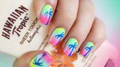 Rainbow Sunset Nails!