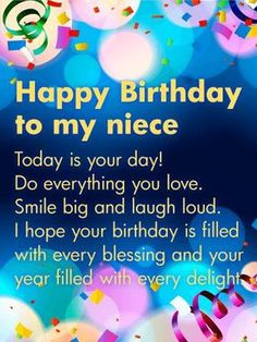 You Are Amazing Happy Birthday Wishes Card For Niece Add Some