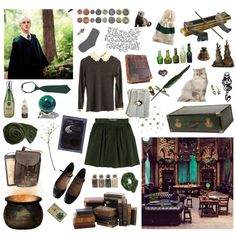 Slytherin Common Room by jacquelinebrown on Polyvore featuring interior, interiors, interior design, home, home decor, interior decorating, Crate and Barrel, ferm LIVING, Retrò and White Stuff