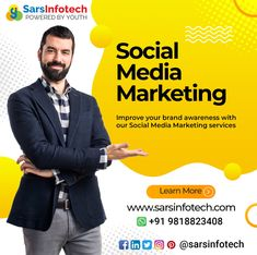 Your Social Media Marketing strategies define your reach amongst potential customers. Have you ever thought about it? Connect with us @ www.sarsinfotech.com to know more! #socialmediainfluencer #business #influencermarketing #socialmediatrends #startup #entrepeneur #onlinebusiness #socialmediamarketingagency #contentcreation #socialmediamarketingstrategy #digitalmarketingservices #digitalmarketing #contentcuration #onlineadvertising #startupbusiness #entrepreneurship #businesspassion Social Media Marketing Agency, Social Media Trends, Social Media Influencer, Influencer Marketing, Digital Marketing Services, Marketing Strategies, Start Up Business, Online Business, Service Learning