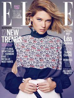Léa Seydoux by Kai Z Feng for Elle UK June 2016 cover