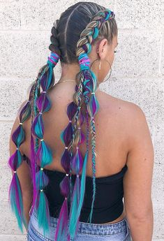 Excellent Photos dutch braided hairstyle Strategies A braid…every one's popular uncomplicated, stylish hairstyle. Although did you know your chosen go-to hai # dutch Braids with extensions Holiday Hairstyles, Summer Hairstyles, Cool Hairstyles, Hairstyle Photos, Wedding Hairstyles, Easy Hairstyle, Rave Hair, Festival Braid, Long Braided Hairstyles