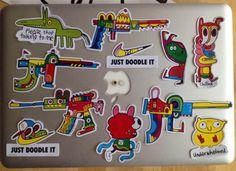 Stickers 2014 | Jon Burgerman Doodles, Animation, Stickers, Drawings, Illustration, Artist, Blog, Character, Artists