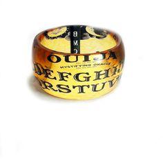 Ouija  XL SUPER CHUNKY bangle, bracelet, by BuyMyCrap on Etsy, $50.00