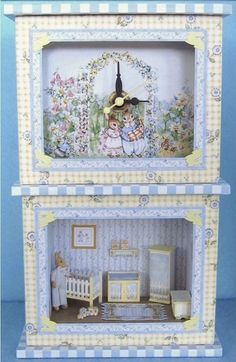 Hey, I found this really awesome Etsy listing at https://www.etsy.com/listing/195408077/blue-nursery-clock-and-roombox-kit-in