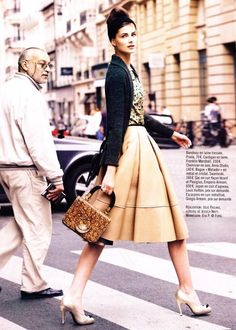 """@Kate Soheili  Love this whole outfit for you! Minus the beehive.  A-line skirt, """"lady bag"""", pumps, attitude!"""