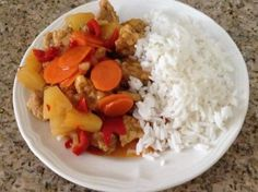 Sweet and sour pork in the Thermomix
