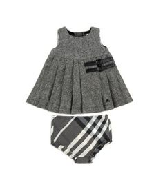 Burberry tweed dress and check bloomers