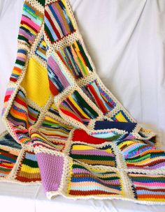 Crocheted scrap quilt...drool!!