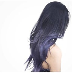Pin od ala lisecka na włosy hair color asian, silver blue hair i blue ste. Hair Color Purple, Hair Dye Colors, Purple Ombre, Violet Ombre, Pastel Ombre Hair, Long Purple Hair, Violet Hair, Lilac Hair, Asian Hair