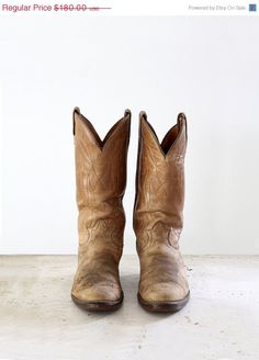 Western Boots / 1970s Tony Lama Boots / Vintage Cowboy Boots / Mens 9 on Etsy, $153.00