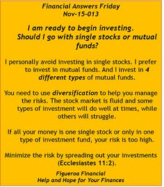 Welcome to Financial Answers Friday (Nov-15-2013)! #stocksvsmutualfunds