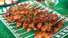The secret weapon in this BBQ cola chicken skewers recipe is the soda. It helps tenderize the chicken and adds a subtle hint of sweetness. http://on.today.com/2m1WJjR #grilling #outdoor #recipes #easytips #vegetables #bbq #dinner #grill #grilled #skewers