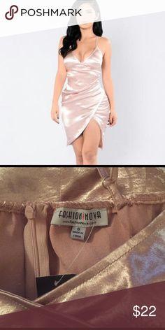 Fashion nova dress Silky and sexy! Brand new, never worn. Fashion Nova Dresses Mini