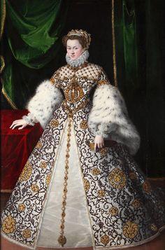 Isabel de Austria, reina de Francia Jooris van der Straeten, 1573 Óleo sobre lienzo. Patrimonio Nacional, Madrid, Monasterio de las Descalzas Reales