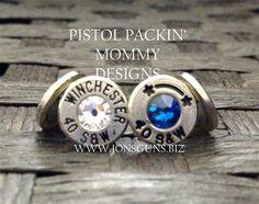 Head Stamp Stud Earrings #bulletjewelry