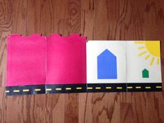Decimal Street folder - The green units house and blue tens house each hold 9 Math-U-See blocks. The red hundreds house is not to scale (it would be too big!) Used two regular size file folders to make this. Homeschool Kindergarten, Preschool, Homeschooling, Learning Tools, Early Learning, Math U See, Teaching Textbooks, Child Development, Early Childhood