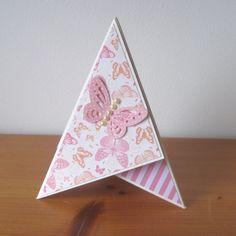 Teepee card s motýlem