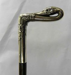 Antique walking stick - swan head handle