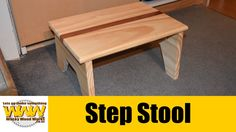 StepStool - Off the cuff - Wacky Wood Works