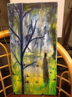 abstrakt akryl painting