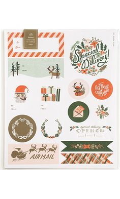 Rifle Paper Holiday Stickers & Labels, 45ct Best Price