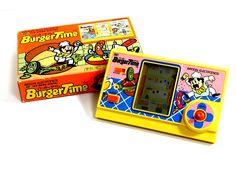 80s Retro Bandai LCD Game Watch Burger Time Boxed MIJ Great Condition_11 #Bandai
