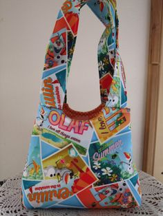 Tote Purse Boutique  Child Bag #Olaf Made in by Antiquebasketlady