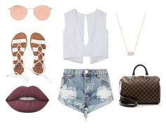 Casual day 2 by allgoodbabybaby on Polyvore featuring polyvore, fashion, style, One Teaspoon, Billabong, Louis Vuitton, Kendra Scott, Ray-Ban, Lime Crime and clothing