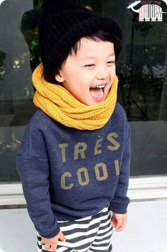 Tres Cool Sweater Fleece. Sweet winter fashion for kids.