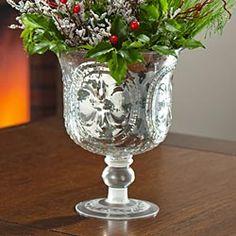 Mercury Glass Hurricane Vase in Holiday 2012 from Uno Alla Volta