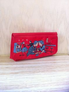 Your place to buy and sell all things handmade Gender Neutral Toys, Vintage Ponytail, Red Clutch Purse, Vintage Girls, Toys For Girls, 1960s, Barbie, Pouch, Teen