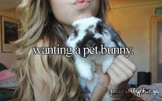 Just girly things ....wanting a pet bunny