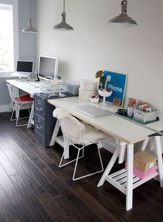 Workspaces: The Minimalist Designer vs. The Cozy Crafter | Apartment Therapy