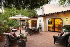 You don't have to have grass for a great backyard! This patio would be an ideal space for entertaining.