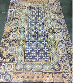 Vintage-antique-1920s-Tunisian-spanish-batchelder-catalina-california-Tiles