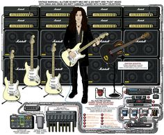 We run down Yngwie Malmsteen's guitar rig. When people mention the electric guitar, and technical ability and proficiency, Malmsteen's name often comes up. Guitar Hero, Guitar Rig, Guitar Pedals, Music Guitar, Cool Guitar, Playing Guitar, Joe Satriani, John Frusciante, Fender Telecaster