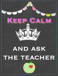 The Teacher's Chair: Keep Calm... it's: Monday Made It, Chalkboard Craziness and Freebie Time!