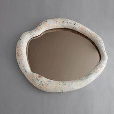 Sculptural wall mirror by Rogan Gregory Diy Clay, Clay Crafts, Ceramic Clay, Ceramic Pottery, Clay Art Projects, Deco Originale, Decoration Inspiration, Diy Interior, Wall Sculptures
