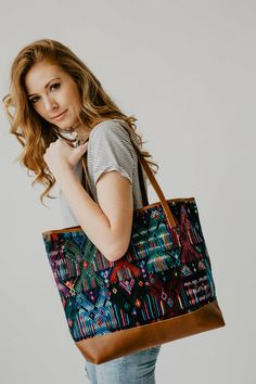 Hand Weaving, Brown Leather, Textiles, Shoulder Bag, Tote Bag, Handmade, Bags, Accessories, Collection