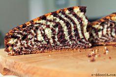 E-D Does It: Crouching Tiger Hidden Zebra Cake - Orange and Chocolate Zebra Print Cake.easier than it looks! Zebra Print Cakes, Cake Recipes, Sweets, Chocolate, Baking, Ethnic Recipes, Easy, Friday, Orange