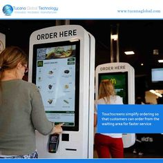 #Touchscreens #simplify #ordering so that #customers can #order from the waiting area for #faster #service. #TucanaGlobalTechnology #Manufacturer #HongKong