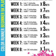 Training for Color Run/5KM- Love this