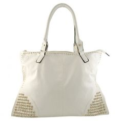 Studded white tote bag-Im in love!
